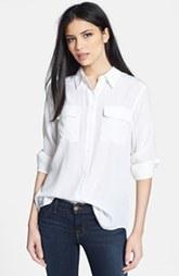 classic silk white blouse
