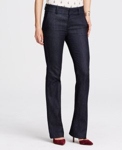 ann taylor flare trousers