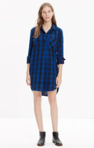 madewell plaid shirt dress