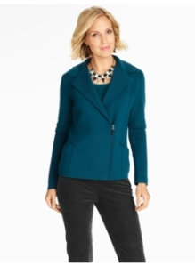 milano knit moto jacket from Talbots
