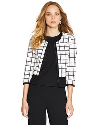 window pane ponte jacket