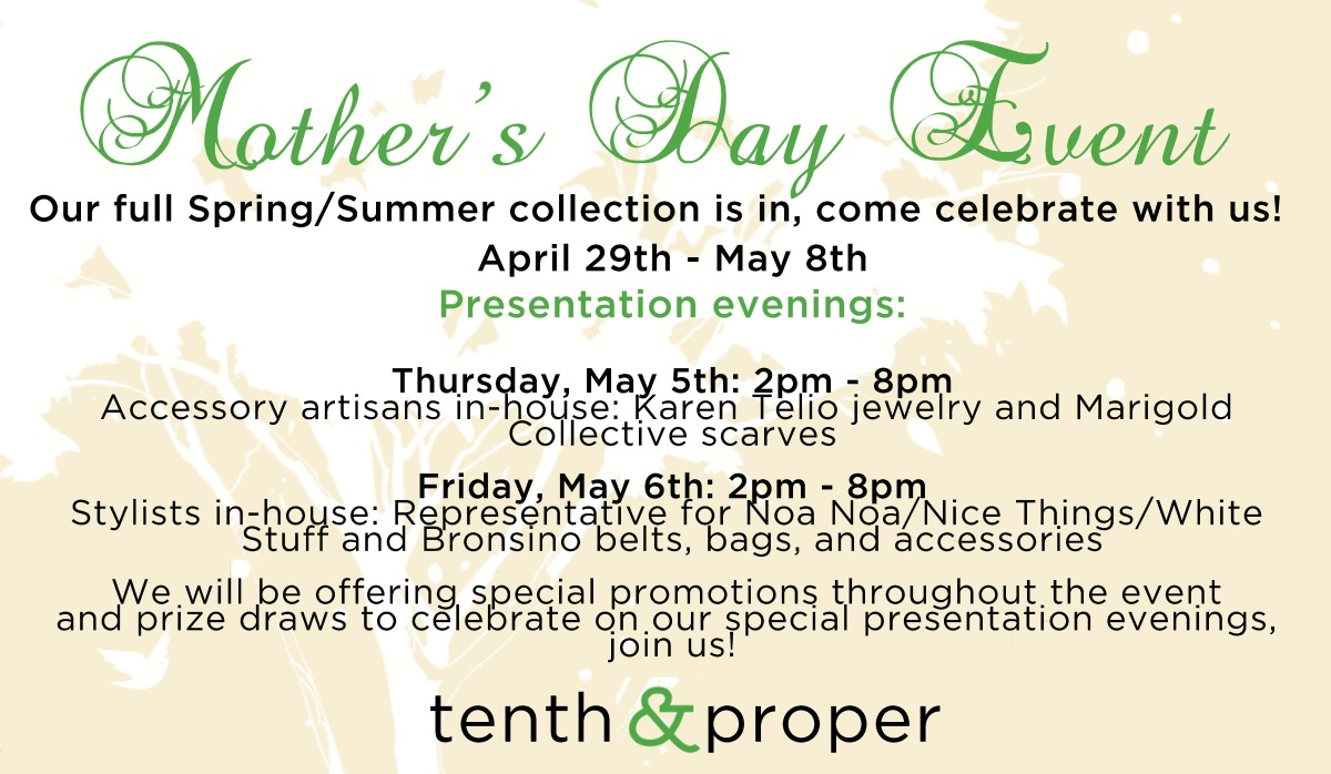 Tenth and Proper Mother's day event