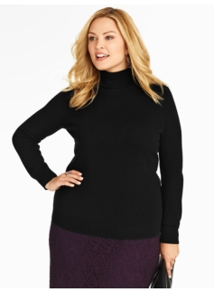 plus size Talbots cashmere turtleneck $149.99