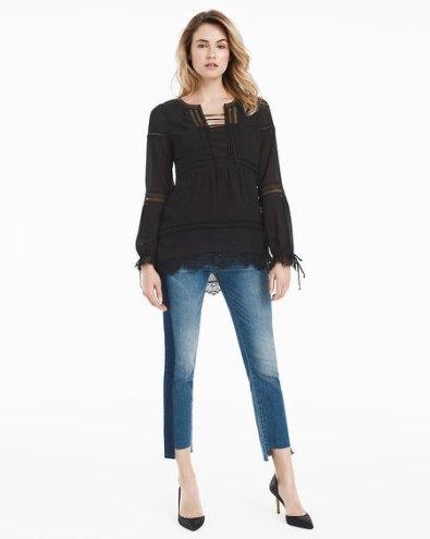 black-lace-up-boho-blouse