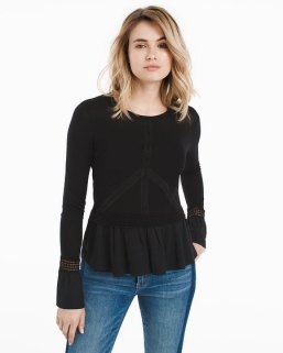 embroidered-sweater-with-woven-peplum-hem