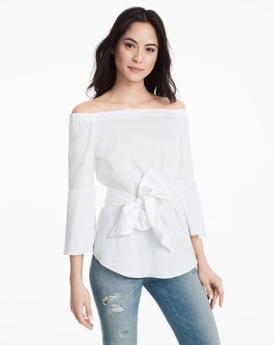 off-the-shoulder-bell-sleeve-tie-blouse