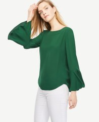 at-fluted-sleeve-blouse