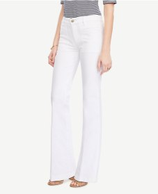 flare white jeans