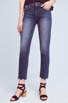 scalloped bottom jeans