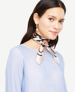 scarf worn as necklace