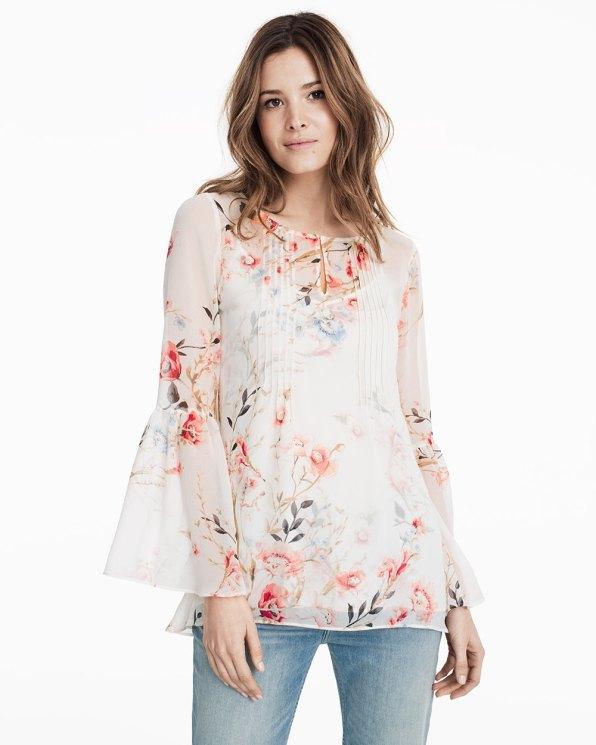 soft floral blouse