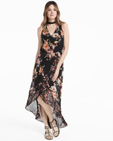 floral maxi with built in choker