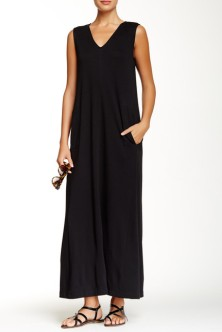black casual maxi