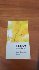 Olga business card front