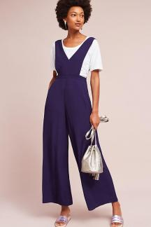 apron wide leg jumpsuit