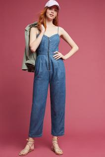 denim Zip Front jumpsuit