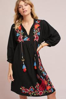 Dark embroidered dress