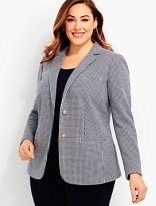 Plus size ponte knit blazer