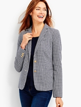 Regular ponte knit blazer