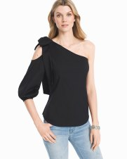 WHBM one shoulder top