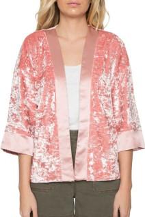 Willow and Clay velvet Kimono