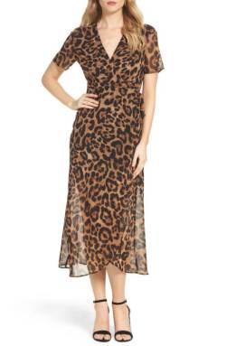 bardot wrap dress