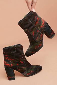 Bruno Premi Printed Velvet ankle booies