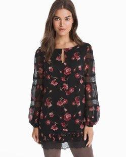 dark floral tunic