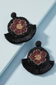 fanned poppy earrings