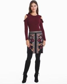floral velvet skirt