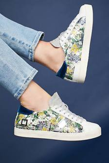 glitery floral sneakers