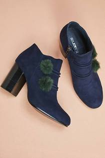 Pompom booties by Silent D