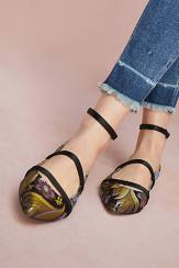 strappy floral flats