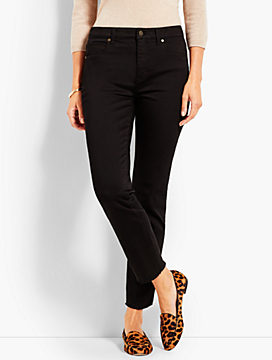 frayed hem straight leg black jeans