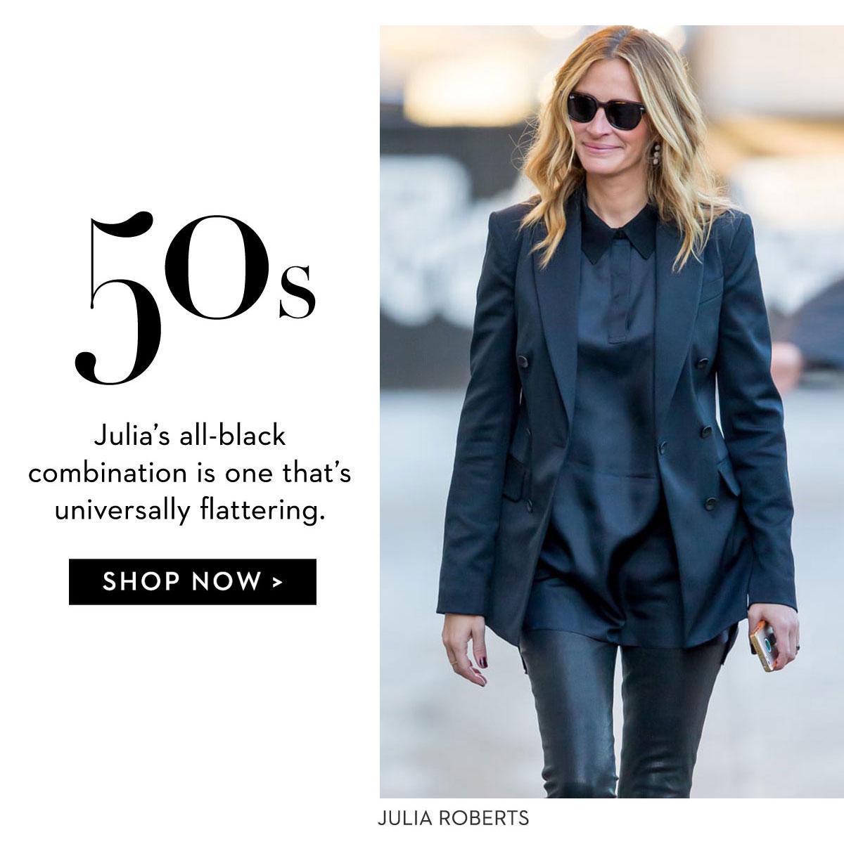Julia Roberts black suit